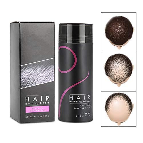 Fibres de renforcement des cheveux, anticernes correcteur de solution de perte de cheveux Pour éclaircir les cheveux en aérosol pour que les hommes obtiennent des cheveux plus dense(mid-brown)