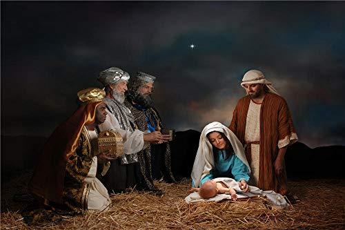 YANCONG Rompecabezas 1000 Piezas, Tres Reyes Magos Presentando Regalos Al Niño Jesús