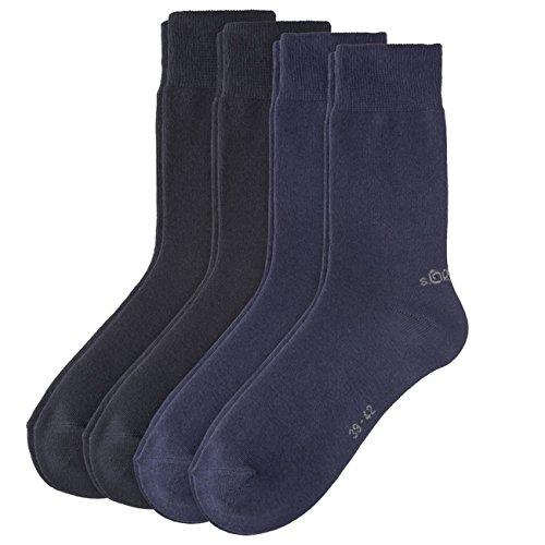 s.Oliver Unisex Classic Socken 8er Pack, Größe:43-46;Farbe:Navy (04)