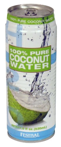 Festival 100% Pure Coconut Water 24 Direct Sale store Pack 17.5-Ounce of