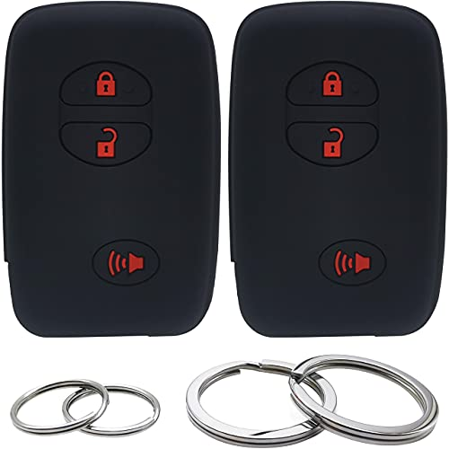 GFDesign 2 Pcs Silicone 3 Buttons Key Fob Cover Remote Case Keyless...