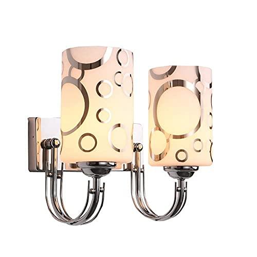 Lámpara de pared LED de cristal con forma de círculo de burbujas de noche para dormitorio, estudio, lámpara de pared de pasillo, doble luz de pared (tamaño individual: