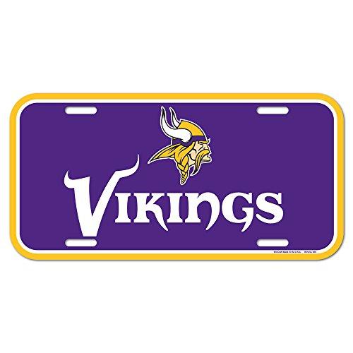 NFL Minnesota Vikings License Plate, Team Color, One Size