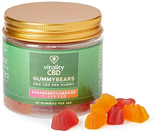 Vitality CBD Gummy Bears, 5mg per gummy, 40 gummies