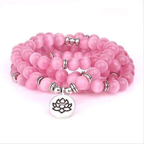 gujiu Tibetan Buddhism Jewelry Opal Beads Strand Charm Wrap Bracelet & Necklace Handmade 108 Beads Mala Bracelet Women Men'S Jewelry Accessories
