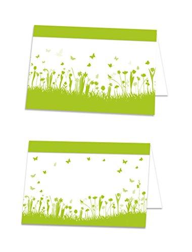 25 stuks lichtgroen meigroen zomerse bloemen tafelkaarten naamplaatjes naamkaartjes tafelkaartjes tafelkaartjes tafelstandaard prijskaarten plaatskaarten - met elke pen beschrijfbaar!