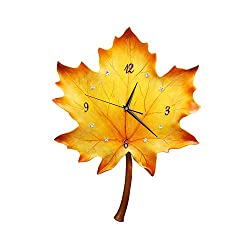 Goddess Nordic Maple Leaf Wall Clock, Stylish Decorative Wall Hanging, Suitable for Living Room