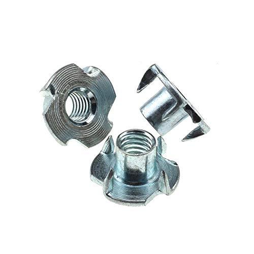 50 Pack Tee Nuts 3//8 inch 4 Prong Tee Nut 3//8-16 x 7//16 U-Turn