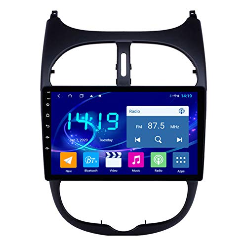 Android 2.5D Pantalla táctil Estéreo para automóvil Navegación por satélite Radio FM AM DVD Navegación GPS Control del volante Reproductor de video WIFI Bluetooth - Para Peugeot (Color:4G+WIFI 2G+32G)
