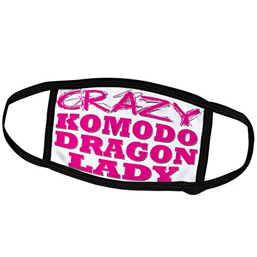 3dRose Blonde Designs Crazy Thumb Pointing Back Lady - Crazy Komodo Dragon Lady - Face Masks (fm_175147_3)