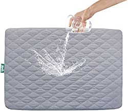 Mattress Protector for Pack n Play Waterproof, Premium Quilted Playard Sheet Cover 39