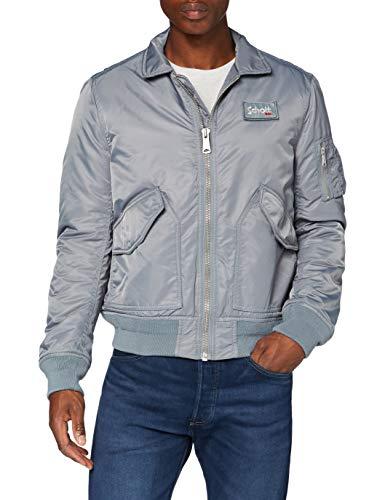 Schott NYC Herren 210100 Jacke, Grau, Medium