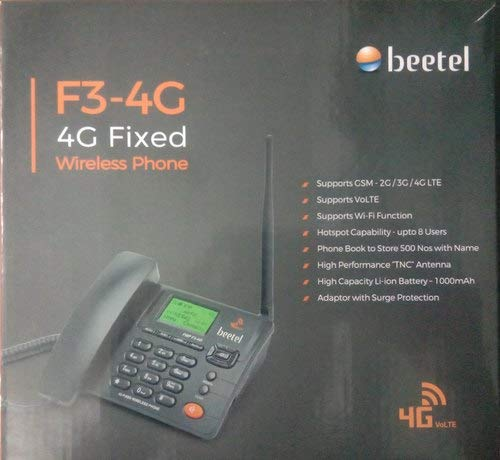 Beetel Fixed Wireless Landline Phone, Black