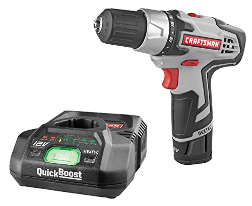 Craftsman 30565 Compact Lithium-Ion Nextec 12V Drill/Driver with Quickboost Charging System -