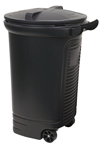 Review United Solutions TB0052 Wheeled Trash/Garbage Can with Turn and Lock Lid, 45-Gallon, Black, 2...
