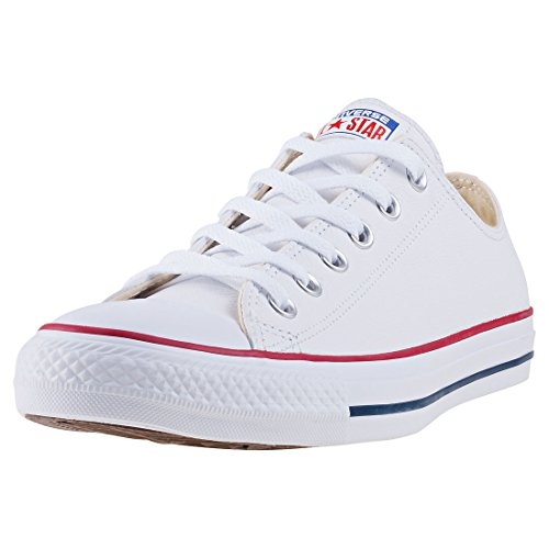 Converse Chuck Taylor Core Lea Ox, Zapatillas De Cuero Unisex Adulto, Blanco, 39 EU