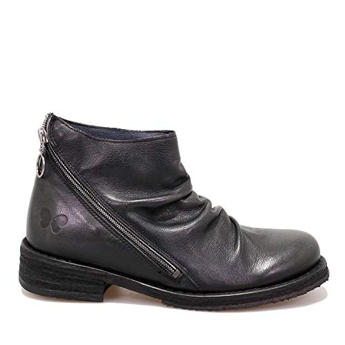 Felmini - Damen Schuhe - Verlieben COOPER B593 - Reißverschluss Stiefeletten - Echtes Leder - Schwarz - 37 EU Size