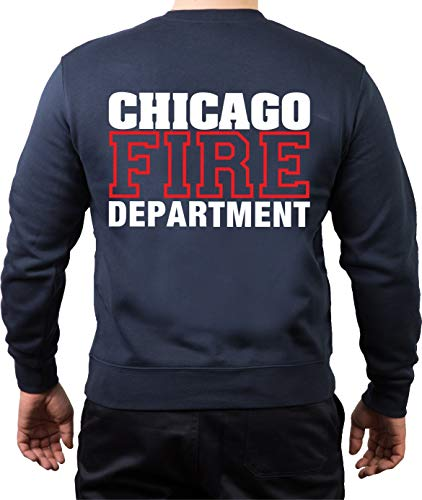 Chicago Fire Dept, standard, blanc/rouge, bleu marine - Bleu - Medium