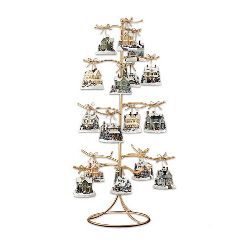 The Bradford Exchange Gold Wire Ornament Tree Display