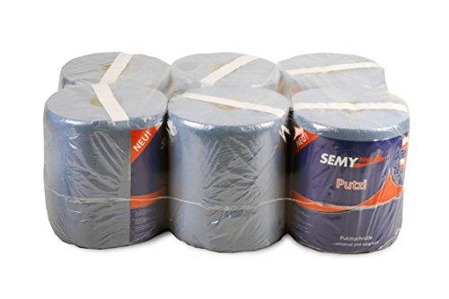 Semy Top ST-88785 Papier Handdoek Roll, 2-Ply, 20 cm, Blauw (Pak van 6)