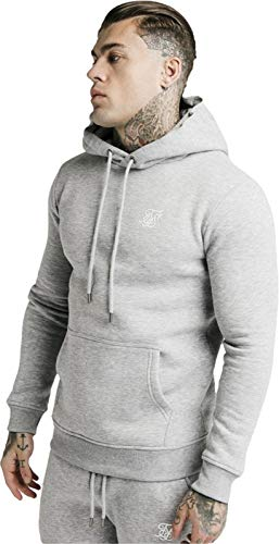 Sudadera Siksilk Muscle Fit Gris