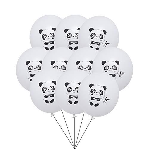 BESTOYARD 12 Zoll Gedruckt Latex Luftballons Panda Muster Luftballons Wohnkultur für Party Geburtstag Baby Shower 10 Stücke