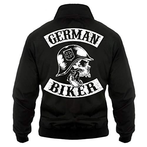 Spaß kostet Männer und Herren Harrington Jacke Patch German Biker (mit Rückendruck) Größe S - 5XL