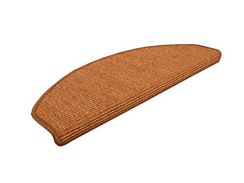 Natur Sisal Stufenmatten Orange (halbrund) einzeln oder im 15er Set in 2 Größen, Größe/Menge:18x56 cm = 15 Stck.