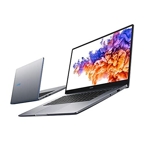 HONOR MagicBook 15 Laptop, 39cm (15,6 Zoll), Full HD IPS, 512 GB PCIe SSD, 16 GB RAM, 11. Gen. Intel Core i5, QWERTZ-Layout, Fingerabdrucksensor, Windows 10 Home - Space Grey