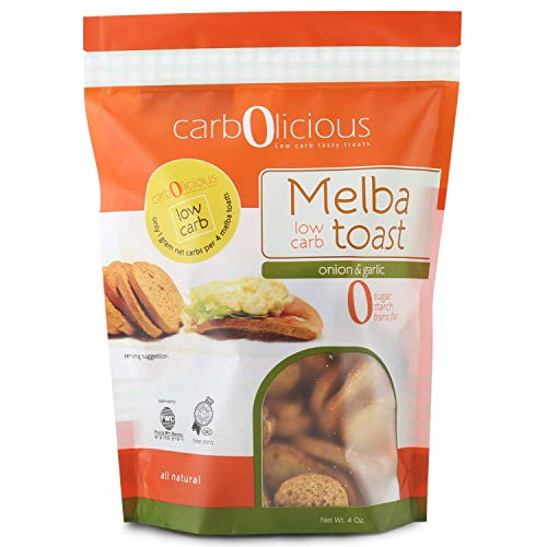 Low Carb Melba Toast 2 4oz Packs (ONION & GARLIC 2 PACK)