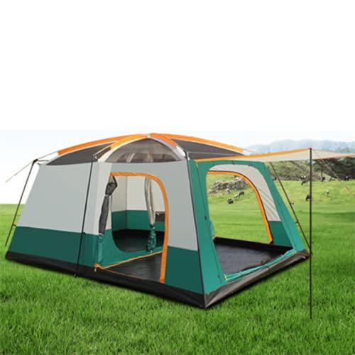 Tenda da Campeggio 6-8 8-12 Persone Ampia Tenda da Campeggio Esterna Resistente alla Pioggia con Due camere da Letto e Una Tenda da Campeggio,Big