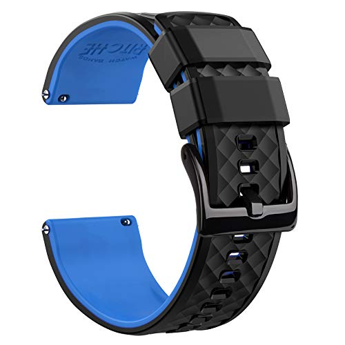 Ritche 22mm Silicone Watch Band Compatible with Samsung Galaxy Watch 3 (45mm) Quick Release Rubber Watch Bands for Men Women