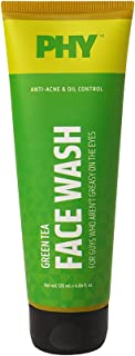 Phy Green Tea Face Wash | Sulphate-free, non-drying | Anti-acne | Brightens & evens out skin tone| Specially for oily skin...