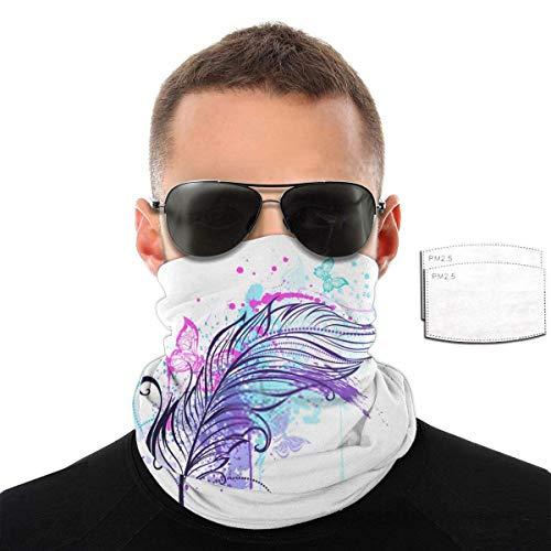 Feder mit Schmetterlingen Bandund mit Filtern Hals/Ohr Skischal Armband für das ganze Jahr
