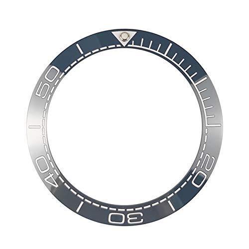HGGFA Nuevo inserto de bisel de cerámica de 41,5 mm para relojes de buceador de hombre, repuesto de accesorios azul/negro (color: azul)