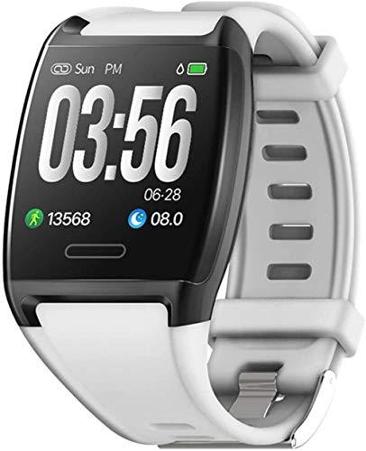DHTOMC Reloj inteligente 1.3 pulgadas pantalla a color IP67 impermeable deportes sueño monitoreo fitness tracker-Blanco