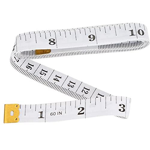 Cinta métrica suave de 60 pulgadas, regla de costura corporal de doble escala para medir el cuerpo, coser, circunferencia de la cintura, artesanía a medida