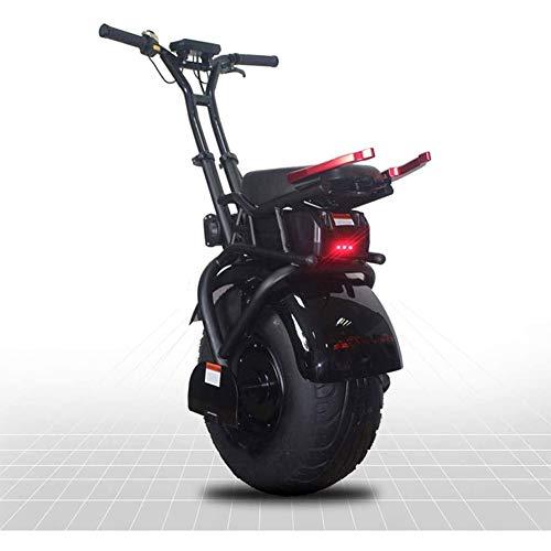 MMJC 18 Pulgadas Rueda Grande Individual Scooter Eléctrico Monociclo Auto-Equilibrio Un Scooter Eléctrico Adulto Rueda con La Batería De Litio 1000W Potente 60V