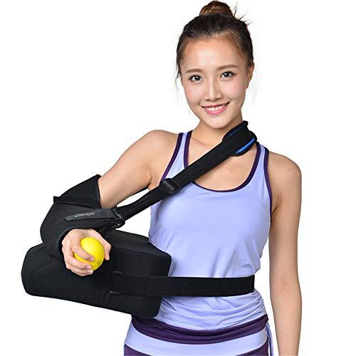 WODT Schulterstützschlinge, Bandage mit korrekter Haltung Schulterluxation behoben Humerusfraktur-Trainingspolster mit Druckball,Right,S