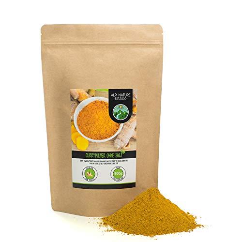 Poudre de curry doux sans sel (500g), poudre de curry douce, mélange d'épices typiquement indien, emballage refermable