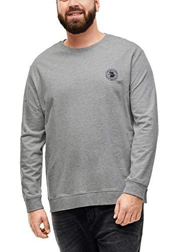 s.Oliver Big Size Herren Langarmshirt mit Rundhalsausschnitt grey 5XL