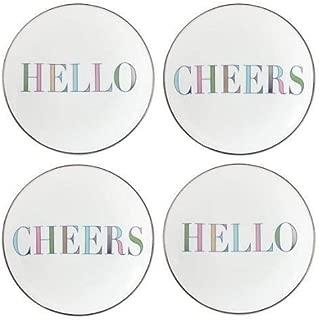 kate spade new york sadie street hello/cheers tidbit plates ~ set of 4