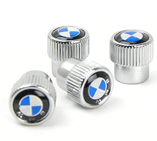 Hi-Trait Valve Stem Caps, Tire Valve Stem Caps for BMW, 4 Pcs Silver