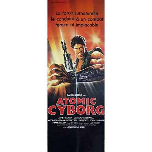 ATOMIC CYBORG Affiche de film - 60x160 cm. - 1986 - Daniel Greene, Sergio Martino