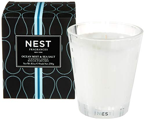 NEST Fragrances Classic Candle- Ocean Mist & Sea Salt , 8.1 oz - NEST01-OS