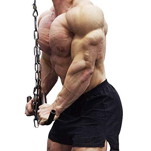 JEEING GEAR Herren Bodybuilding Gym Workout Fitness Shorts 7,6 cm Schrittlänge Zoll Baumwolle ohne Tasche - Schwarz - X-Groß