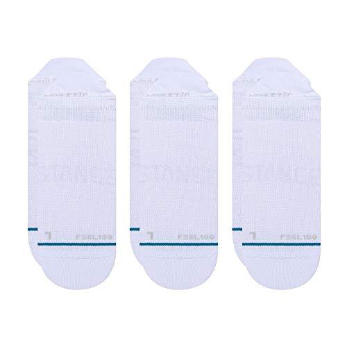 Stance Prime Tab 3 Pack White Trainer Socks (White, Large)