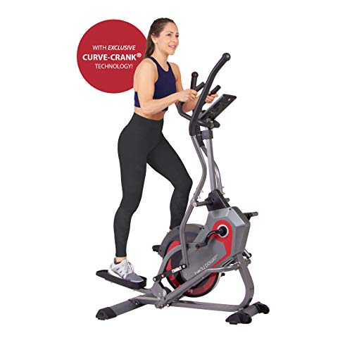Body Power StepTrac 2 in 1 Elliptical Stepper Workout HIIT Trainer with Curve-Crank Technology