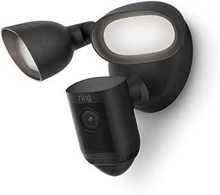 Vi presenterar Ring Floodlight Cam Wired Pro från Amazon | 1080p HDR-bild, 3D rörelsesensor, fågelperspektiv, kabelinstall...