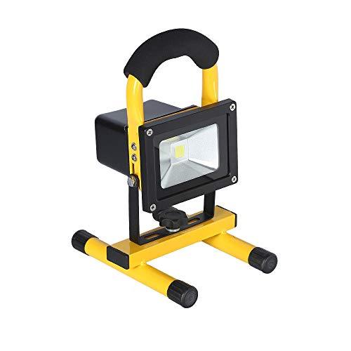 HENGMEI 10W Warmweiß LED Fluter Akku Baustrahler Tragbare Arbeitsleuchte Strahler Flutlicht Scheinwerfer handlampe Campinglampe Arbeitsscheinwerfer